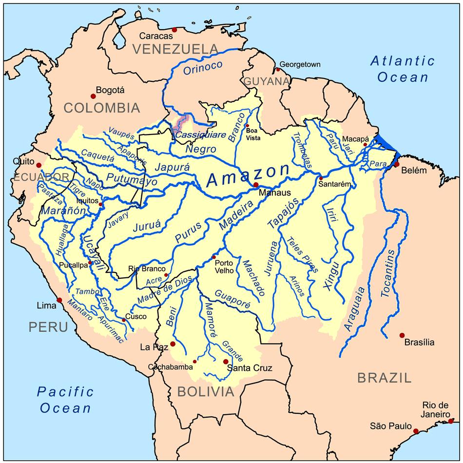 Geografie PeruL rivieren