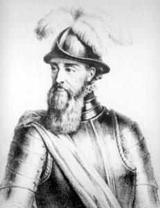 Francisco Pizarro, historisch persoon in de Peru geschiedenis