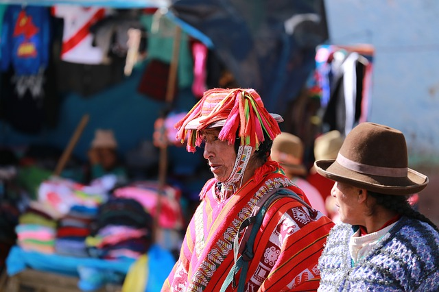 Iemand van de bevolking van Peru
