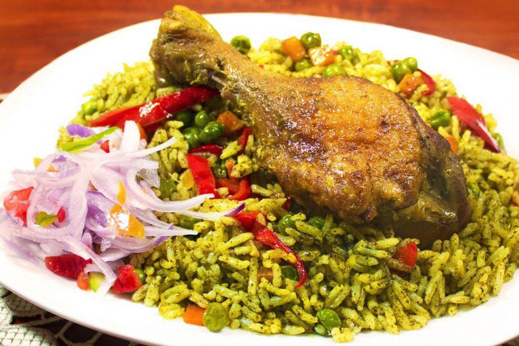 Peruaans eten: arroz con pato