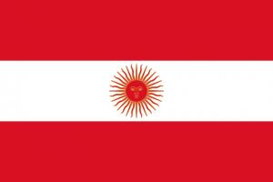 Peruaanse vlag van 1822 tot en met 1823