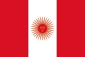 Peruaanse vlag van 1823 tot 1825