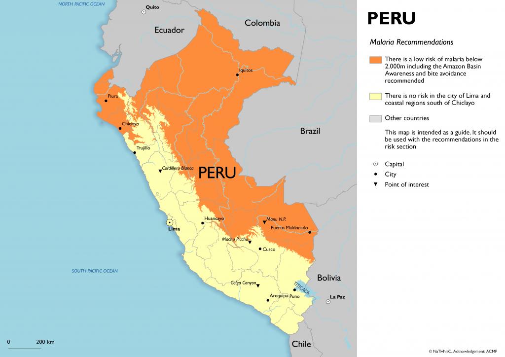 Reisadvies Peru in verband met malaria