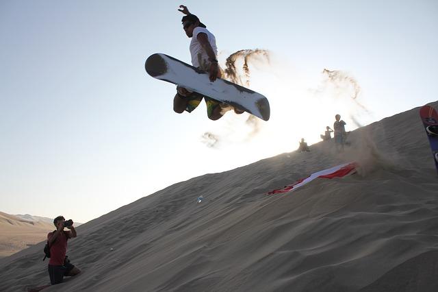 Sandboarding bij Ica