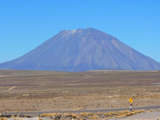 Vulkaan El Misti in Peru