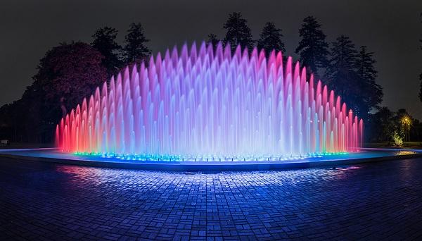 fuente del arco iris