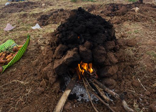 Huatia oven voor wat eten inca's