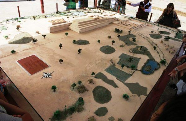 Maquette van het complex