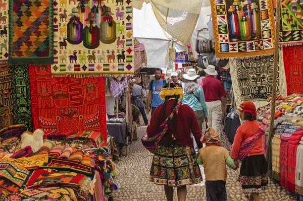 De markt van Pisac