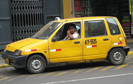 Officiële taxi in Lima