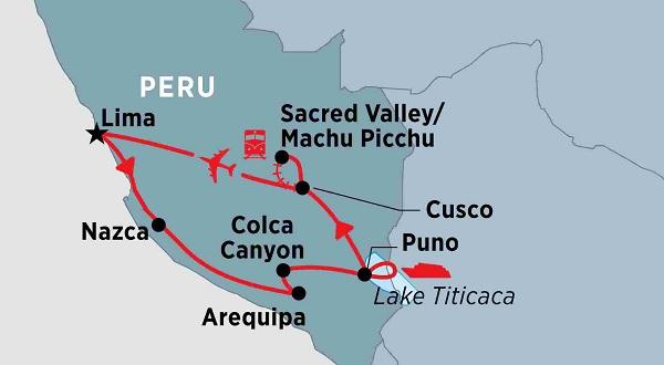 Reisroute Peru 2 weken