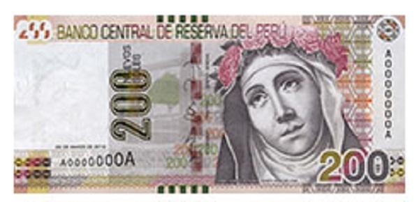 Voorkant bankbiljet 100 Peruaanse Nueva Sol